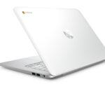 "3c15 – HP Chromebook (14"", Turbo Silver), Catalog, Rear, Left facing"